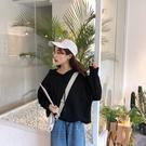 限定款秋冬新品正韓連帽外套女薄款慵懶風寬鬆短款連帽長袖外套