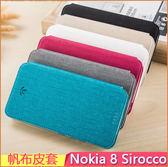 帆布皮套 諾基亞 Nokia 8 Sirocco 手機殼 插卡 支架 Nokia8s 手機套 磁吸 皮套 保護套 保護殼 軟殼