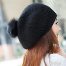毛帽-女士韓版可愛秋冬天兔毛帽子 韓國針織保暖帽 冬季毛線帽保暖護耳 草莓妞妞