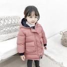 女童輕薄羽絨棉服2019冬裝新款洋氣韓版中長款寶寶棉衣冬天棉襖YJ4206【宅男時代城】