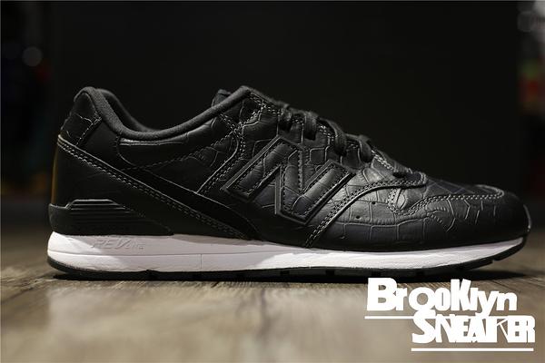 NEW BALANCE 996  黑色 黑白 皮革 鱷魚紋 復古 休閒 運動 男鞋 (布魯克林) 2016 8 MRL996MG