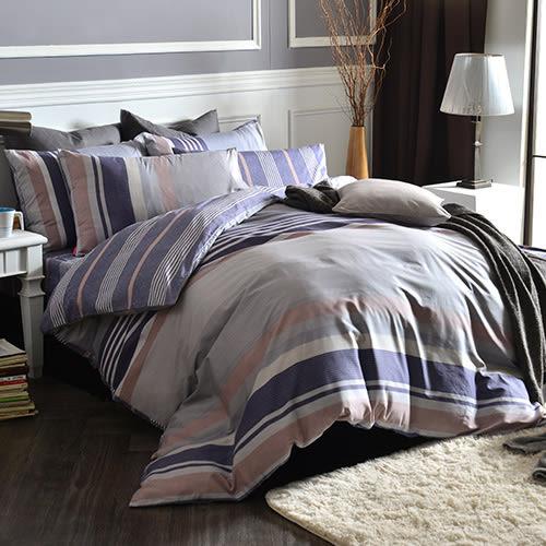 英國Abelia《紳士風範》雙人純棉四件式被套床包組