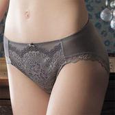 華歌爾-伊珊露絲夢幻花園M-LL中腰三角褲(優雅褐)嚴選蕾絲-透氣包臀ES2351-FQ