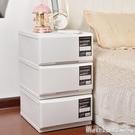 床頭櫃組合抽屜式收納櫃宿舍儲物收納箱子辦公室抽屜櫃多層衣服櫃-