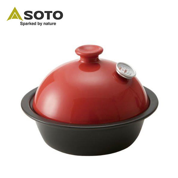 SOTO 陶瓷煙燻烤爐 / 煙燻鍋 【內附溫度計】 ST-126RD