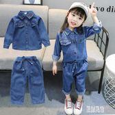 女童套裝牛仔1兩件2韓版洋氣秋季2019新款3歲女寶寶小童幼兒童裝0 LR12035【原創風館】