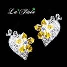 【La Finia】 花嫁心情水晶耳環