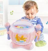 嬰兒電動可充電音樂手拍鼓帶話筒寶寶兒童拍拍鼓手鼓早教益智玩具   蜜拉貝爾