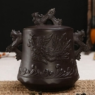 紫砂茶葉罐陶瓷 密封罐 防潮儲存罐大號哥窯茶罐普洱罐茶葉缸茶盒