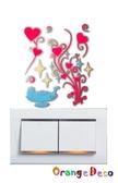 壁貼【橘果設計】花系列夜光開關貼 DIY組合壁貼 牆貼 壁紙 壁貼 室內設計 裝潢 壁貼