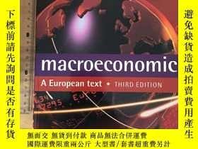 二手書博民逛書店Macroeconomics罕見(A European text