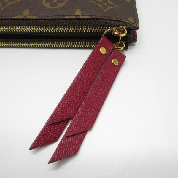 LV ADÈLE 原花紫紅色雙拉鍊扣式長夾 M61269  【二手名牌 BRAND OFF】