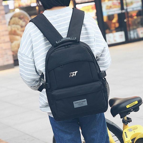 後背包-韓風休閒尼龍後背包-6223- J II