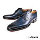 【MAGNANNI】經典德比紳士皮鞋 藍色(13275-NA)