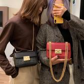 chic小包包女新款冬季女包正韓時尚編織鍊條包ins斜挎單肩包 一件82折