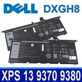 DELL DXGH8 4芯 原廠電池 0H754V G8VCF H754V P82G PS 13 9380 系列 XPS 13 9370 9380 系列 電壓:7.6V 容量:52WH