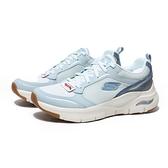 SKECHERS 慢跑鞋 ARCH-FIT 淺水藍 運動鞋 女 (布魯克林) 149413LTBL