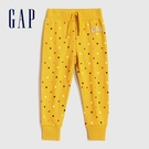 Gap女幼童 Logo童趣印花鬆緊休閒褲 619748-黃色