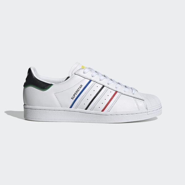 Adidas Superstar [FY2325] 男鞋 運動 休閒 經典 貝殼頭 皮革 舒適 穿搭 愛迪達 白 紅黑藍