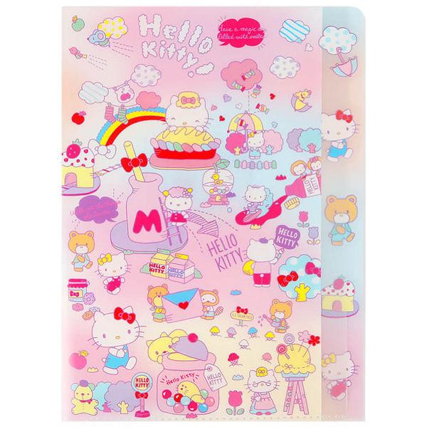 Sanrio HELLO KITTY造型五層分類文件夾(甜點樂園)★funbox★ UA53957