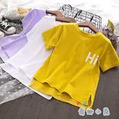 【買一送一】女童夏季時尚休閑短袖T恤寬松舒適字母印花上衣【奇趣小屋】
