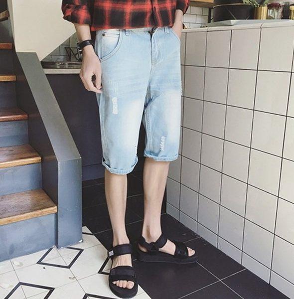超殺優惠 牛仔短褲 淺色 藍 破壞牛仔短褲 找到自己原廠供應 另提供大尺碼 加大 牛仔 短褲
