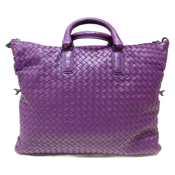 BOTTEGA VENETA 寶緹嘉 紫色羊皮編織手提肩背兩用包 Intrecciato 2 Way Bag BRAND OFF