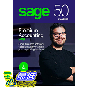 [8美國直購] 暢銷軟體 Sage 50 Premium Accounting 2019 – Advanced Accounting Software – Safe and B07FMF7SZQ
