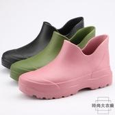 雨鞋女戶外水鞋雨靴塑膠防水防滑一體輕便耐磨【時尚大衣櫥】
