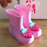 水果兒童雨鞋女童可愛卡通秋雨靴男童中小防滑防水鞋 萬聖節