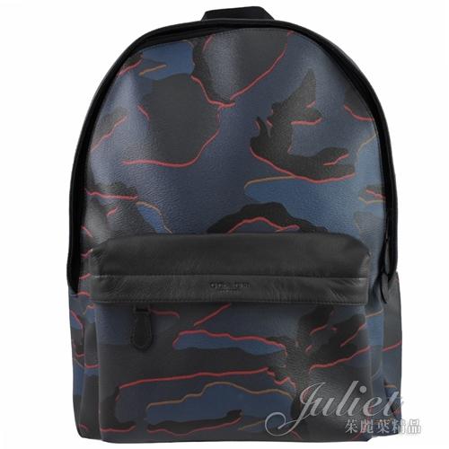 茱麗葉精品【全新現貨】COACH 31557 大款 迷彩 雙肩後背包.藍黑