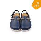 【A.MOUR 經典手工鞋】兒童涼拖鞋系列-深藍 / 涼拖鞋 / 平底鞋 / 防潑水PVC  /DH-3002