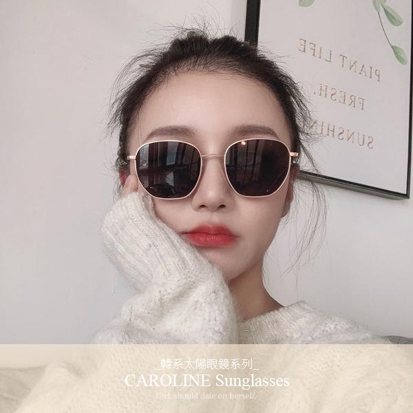《Caroline》年度最新網紅款潮流行百搭抗UV時尚太陽眼鏡 72210