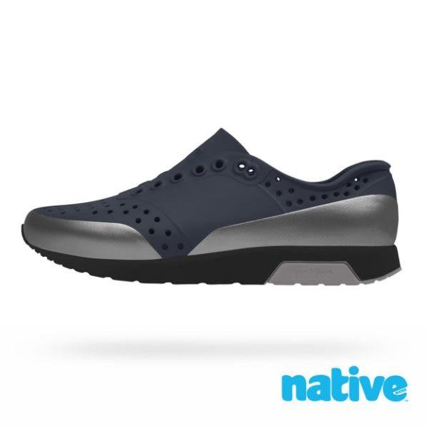 native LENNOX BLOCK 雷諾系列-黑x金屬灰x灰 8597 男鞋 女鞋 休閒鞋 懶人鞋 雨鞋