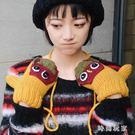 韓版可愛青蛙全指手套加絨加厚保暖冬季掛脖手套情侶zzy6007『時尚玩家』