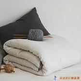 超柔軟針織天竺棉被子冬被加厚保暖全棉冬天被芯【公主日記】