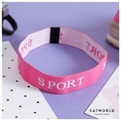 Catworld 粉紅英文字運動髮帶【18003434】‧F