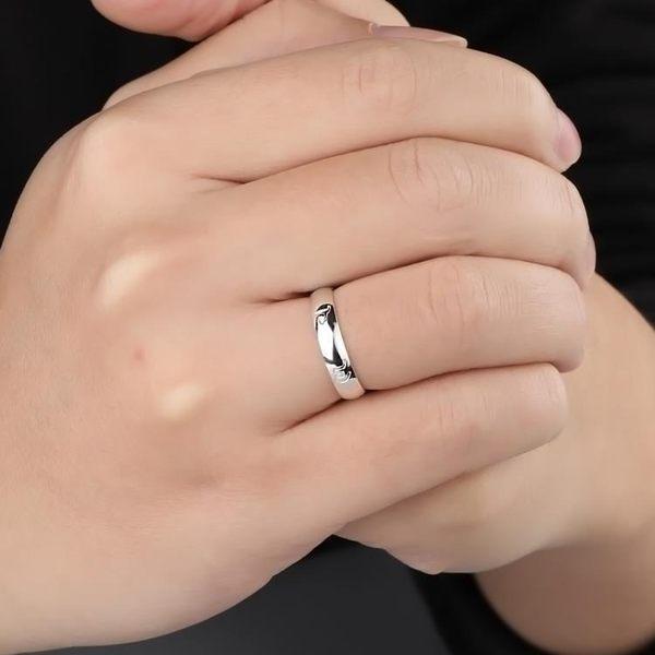 心經戒指 999純銀戒指男女士六字真言個性指環飾品潮食指尾戒小指開口戒指 玩趣3C