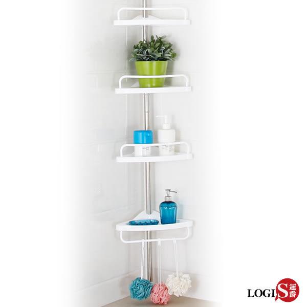 LOGIS-單桿頂立可調式置物架高1.52-3米 不鏽鋼置物架 收納架 整理架【 1030 】