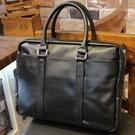 新款皮包男包商務包手提包男士復古電腦包橫款公文包韓版潮流 快速出貨