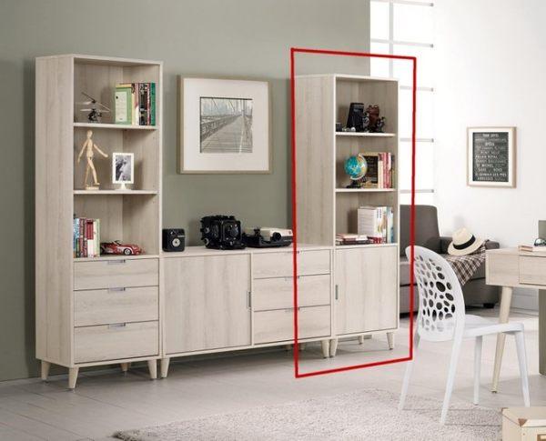 8號店鋪 森寶藝品傢俱 a-01 品味生活 書房系列 895-3 愛莎1.8尺開門書櫥
