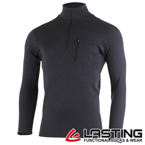 丹大戶外用品【LASTING】男款羊毛立領拉鍊衫 LT-BREND 黑灰