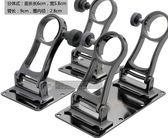 [協貿國際]  不銹鋼可折疊式雙孔釣箱傘架