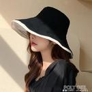 韓國夏天雙面漁夫帽女遮陽防曬帽大沿防紫外線韓版百搭大檐帽子潮 夏季新品