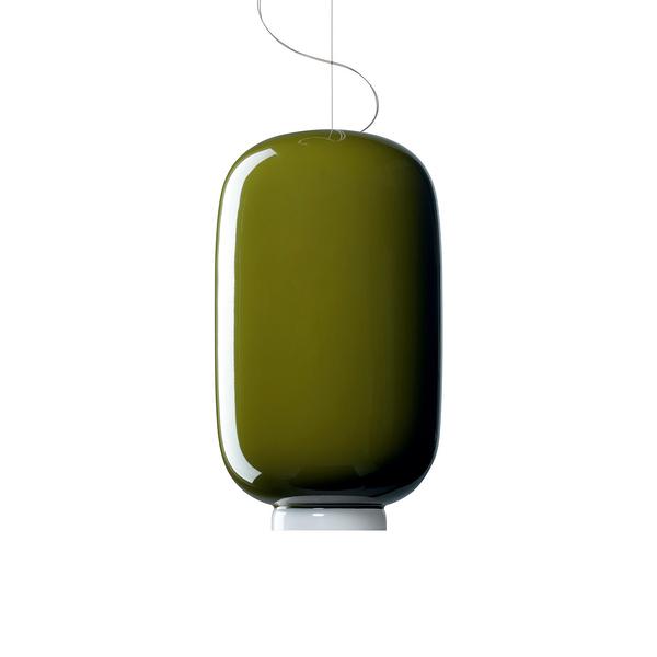義大利 Foscarini Chouchin 2 Suspension Lamp 22cm 彩色蘑菇系列 吊燈 - 型號 2 綠色款