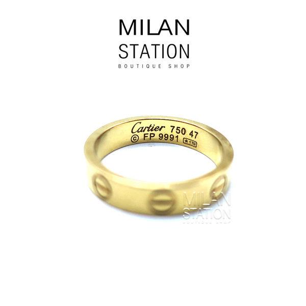 【台中米蘭站】CARTIER LOVE系列 戒指 #47