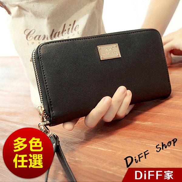 [DIFF] 十字紋錢包 韓版 短款 長款時尚錢夾 零錢包 小錢包 拉鏈搭扣 手拿包