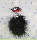 【震撼精品百貨】Hello Kitty 凱蒂貓~手機吊飾-黑毛