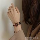 伴朵手錶女學生ins風復古文藝韓版簡約皮帶chic小錶盤石英錶女士 設計師生活百貨