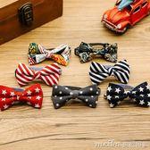 韓版紳士小狗領結項圈寵物飾品博美泰迪蝴蝶結貓咪領結鈴鐺小型犬 美芭